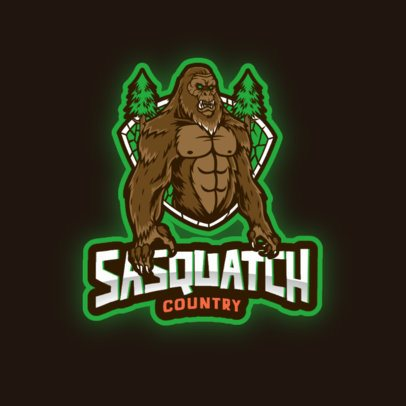 Gaming Logo Maker Featuring a Sasquatch Illustration 3376a