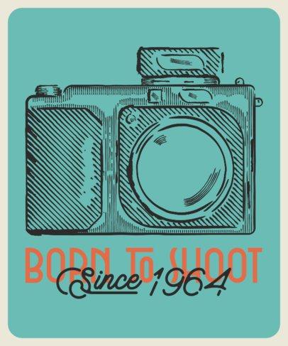 T-Shirt Design Maker for a Photographer Featuring an Analog Camera 2637d