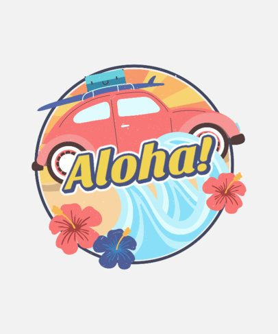 Retro T-Shirt Design Creator with a Hawaiian Style 2630c