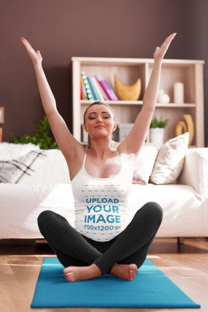 Tank Top of a Pregnant Woman Doing Yoga at Home 37063-r-el2