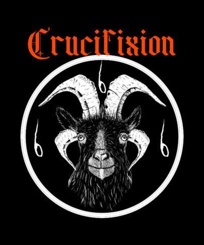 Metal T-Shirt Design Creator Featuring a Hardcore Goat 2627b