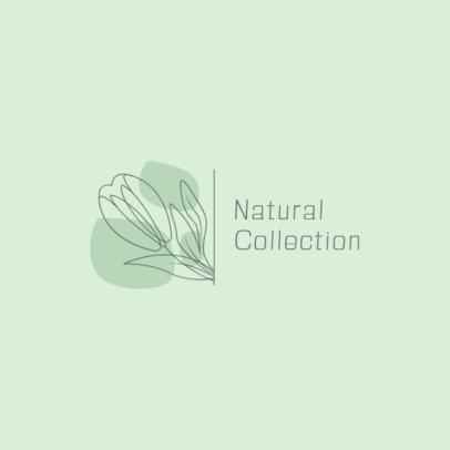 Flower Boutique Logo Maker Featuring a Single-Line Flower Graphic 3373a