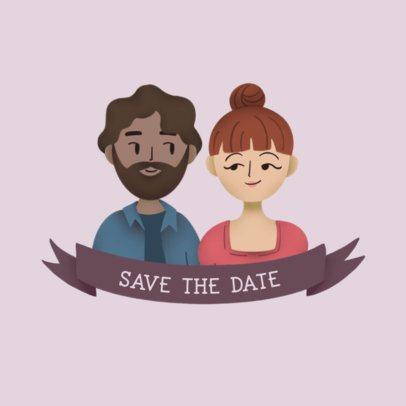 Logo Generator Featuring Customizable Couple Avatars 3372b