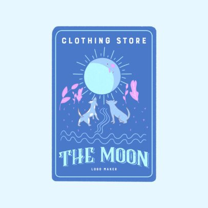 Clothing Store Logo Maker Featuring a Customizable Tarot Card 3369h