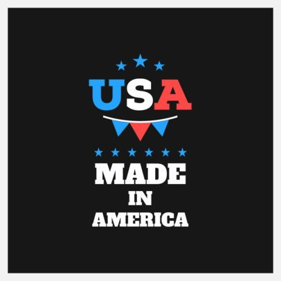 Patriotic Instagram Post Design Template to Celebrate Being an American 1950b-el1