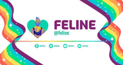 Twitch Banner Maker with an LGBTQ Theme 2668