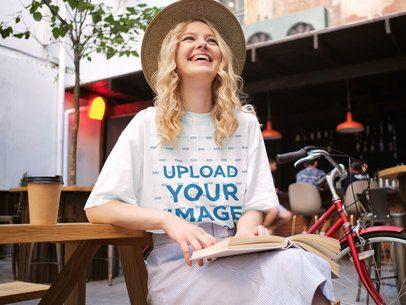 T-Shirt Mockup of a Young Woman Laughing 38691-r-el2