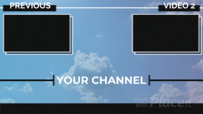 YouTube End Screen Video Creator with a Video Background 1079-el1
