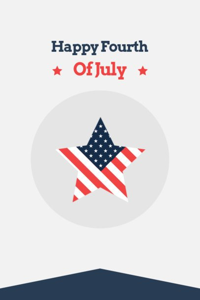 4th of July-Themed Pinterest Pin Creator with an American Star 1949c-el1