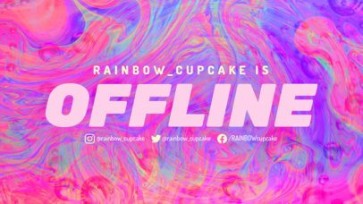 Twitch Offline Banner Maker with a Colorful Fluid Background 2670e
