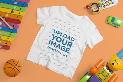 Mockup of a Kids' T-Shirt Surrounded by Toys 4867-el1
