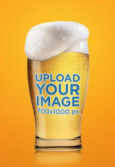 Mockup of a Beer Glass with Dripping Foam 35658-r-el2