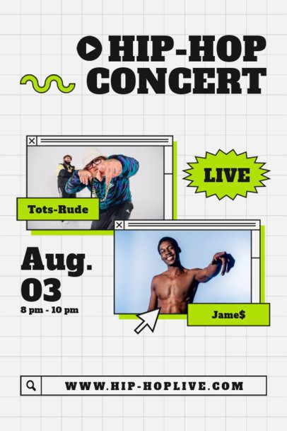 Poster Design Maker for a Hip-Hop Concert 1888b-el1