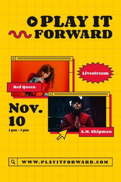 Retro-Themed Poster Design for a Music Show Livestream 1888c-el1