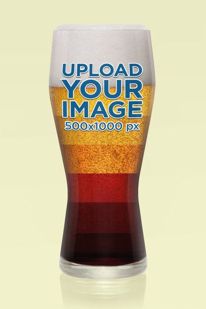 Beer Glass Mockup Featuring a Customizable Background 35701-r-el2