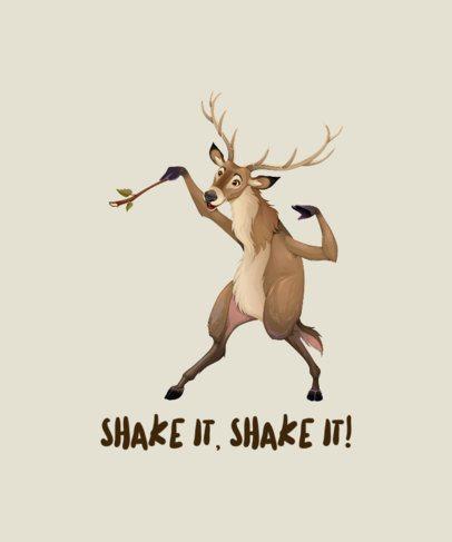 T-Shirt Design Generator with a Dancing Reindeer Illustration 1965f-el1