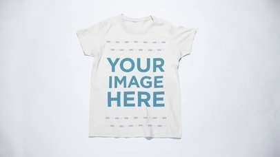 Stop Motion Tee Mockup Video of a Round Neck T-Shirt Folding into a Ball Over a White Background  a13150-122916