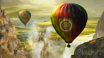 Intro Maker for a Logo Reveal Featuring Hot Air Balloons 1613-el1