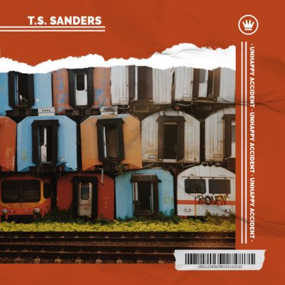 Album Cover Design Maker Featuring a Photograph with Abandoned Houses 1904e-el1