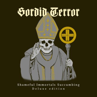 Album Cover Creator Featuring an Evil Pope Character 2692a