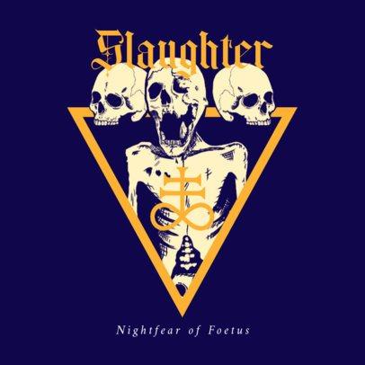 Death Metal Album Cover Maker Featuring Demonic Skull Graphics 2692b
