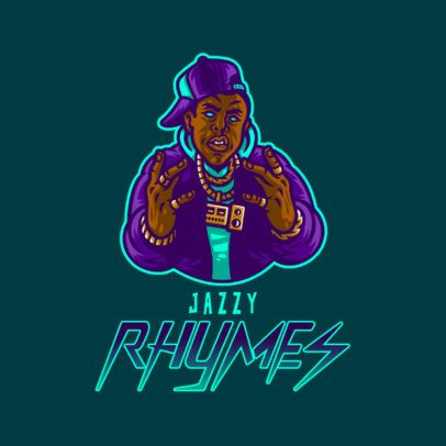 Gaming Logo Maker Featuring a Rapper Posing with Chains 3409f