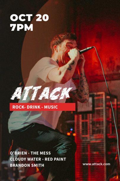 Poster Design Generator for a Rock Concert 1900a-el1