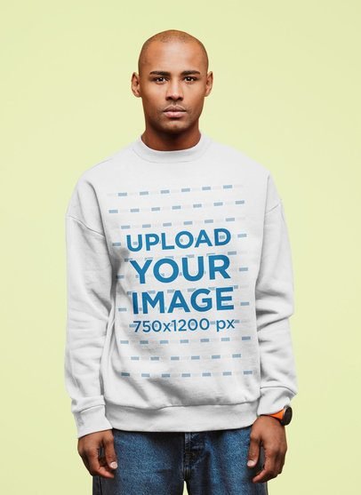 Sweatshirt Mockup of a Man Standing Against a Colored Backdrop 38939-r-el2