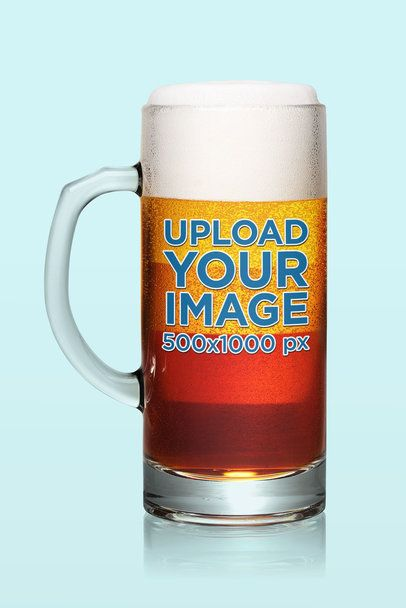Mockup of a Tall Beer Glass Featuring a Transparent Background 35700-r-el2