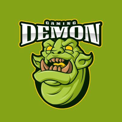 Logo Maker Featuring an Evil Gargoyle 2027a-el1