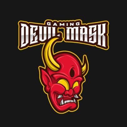 Gaming Logo Maker Featuring a Devilish Mask Graphic 2027e-el1