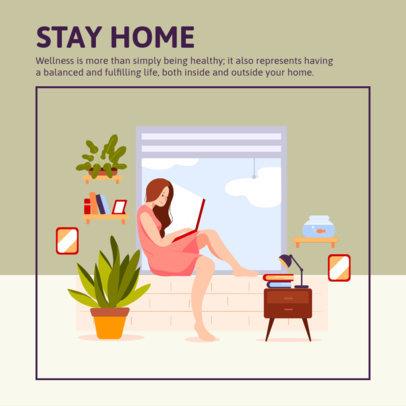 Instagram Post Template Indoor Self-Care Tips 1988-el1
