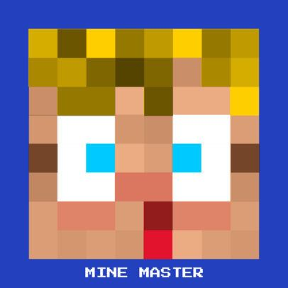 Gaming Logo Maker Featuring Customizable Avatars with Low-Res Pixel Art 3429