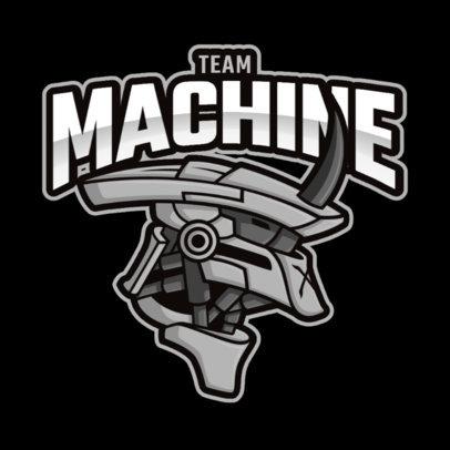 Gaming Logo Creator Featuring the Head of a Giant Mecha 2008e-el1