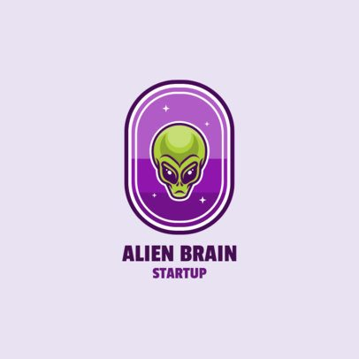 Logo Template for a Startup Company Featuring an Alien Graphic 2077a-el1