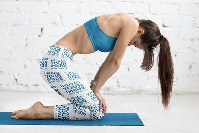 Sublimated Leggings Mockup Featuring a Woman Doing Yoga 38460-r-el2