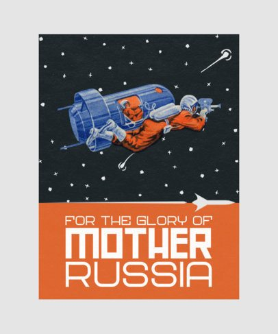 Retro T-Shirt Design Maker with Graphics Inspired by Russia's Space Force 2080-el1