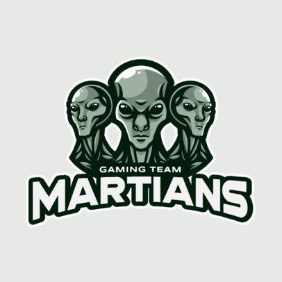Illustrated Logo Maker for Gamers Featuring Three Evil Aliens 2034c-el1