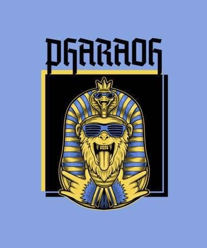 Hip Hop T-Shirt Design Maker with a Monkey Pharaoh Graphic 2083b-el1