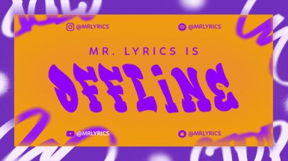 Twitch Offline Banner Creator with a Cool Street Style for a Hip-Hop Artist 2703f