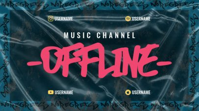 Urban-Style Twitch Offline Banner Maker for a Music Channel 2703k