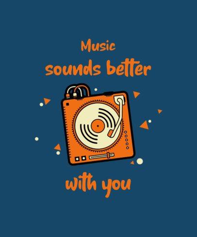 Music T-Shirt Design Maker Featuring a Music Mixer Graphic 2693b