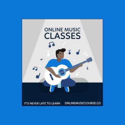 Illustrated Instagram Post Maker for Online Music Lessons 1986c-el1