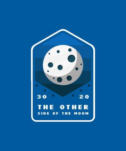 T-Shirt Design Maker Featuring a Moon Emblem 2087a-el1