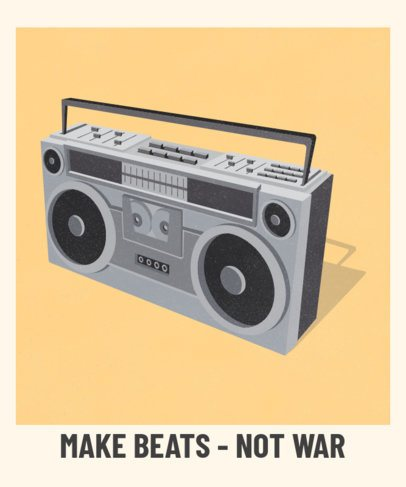 T-Shirt Design Creator Featuring a Retro Boombox Illustration 2694b