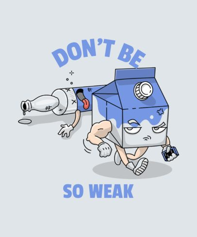 Cartoonish T-Shirt Design Maker Featuring a Fight Scene 2041b-el1