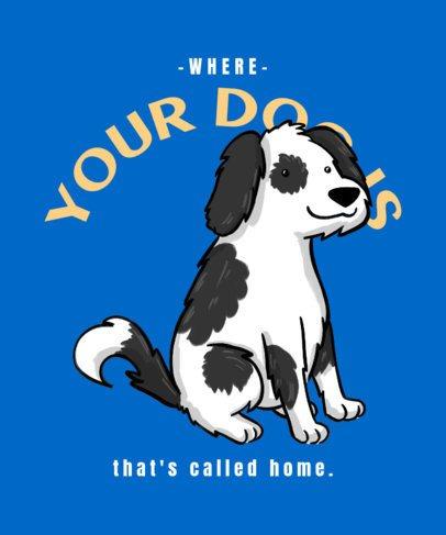 T-Shirt Design Creator Featuring a Dalmatian Dog Illustration 2701h