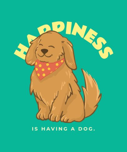 Illustrated T-Shirt Design Maker Featuring a Happy Puppy 2701i