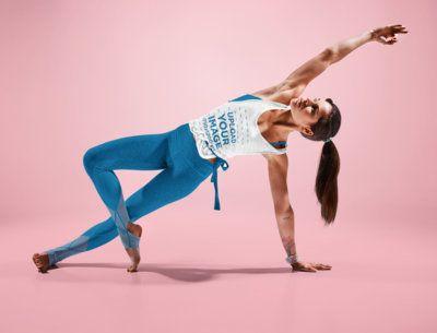 Activewear Tank Top Mockup of a Woman Doing a Yoga Pose 38360-r-el2