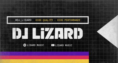 Twitch Banner Creator for a DJ Featuring a Grid Pattern 2143a-el1
